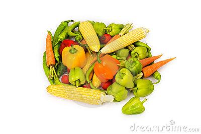 Various vegetables isolated
