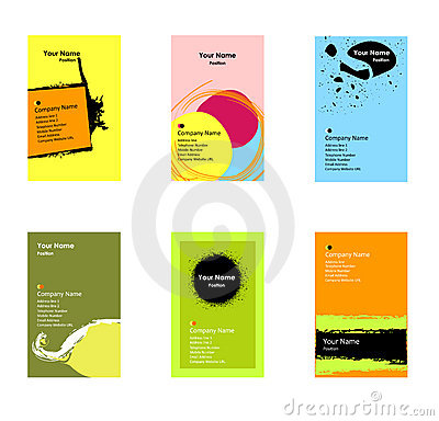 Free Various Vertical Business Cards Stock Photography - 13602802