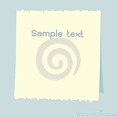 Various white note paper