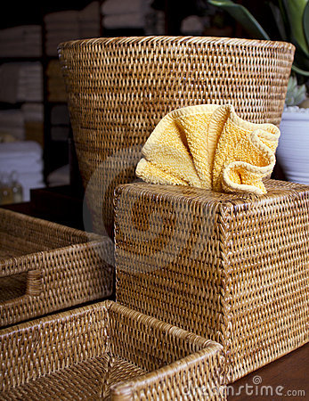 Free Various Wicker Basket Containers Royalty Free Stock Photos - 21380178