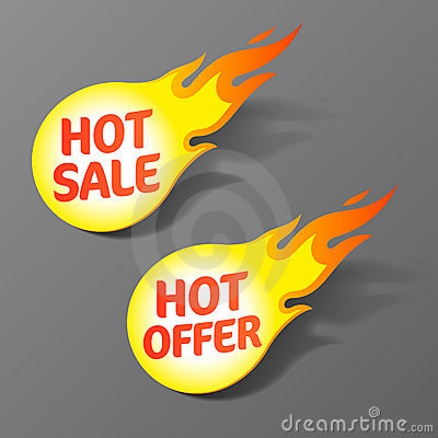 Varma erbjudandeförsäljningsetiketter