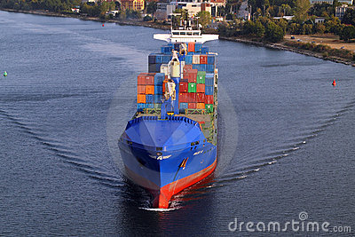 VARNA, BULGARIA - SEPTEMBER 26: Turkish cargo ship Editorial Stock Image