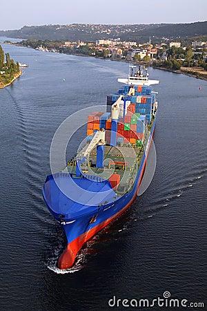 VARNA, BULGARIA - SEPTEMBER 26: Turkish cargo ship Editorial Stock Image