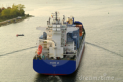 VARNA, BULGARIA - SEPTEMBER 26: Turkish cargo ship Editorial Image