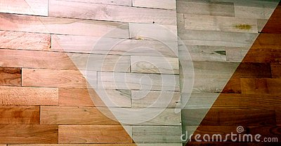 Varnished parquet difference Stock Photo