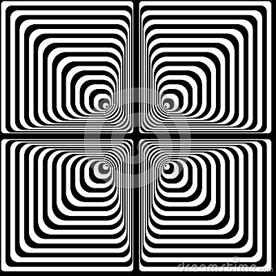 Vasarely optical effect