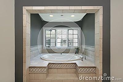 Vasca circolare nel bagno matrice fotografia stock libera - Vasca da bagno circolare ...