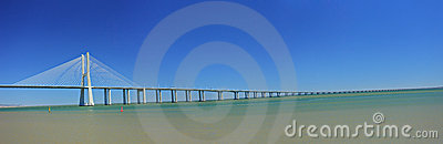 Vasco da Gama Bridge over the Tagus river