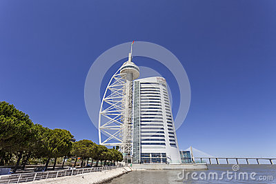 Vasco da Gama Tower / Myriad Hotel - Lisbon Editorial Image