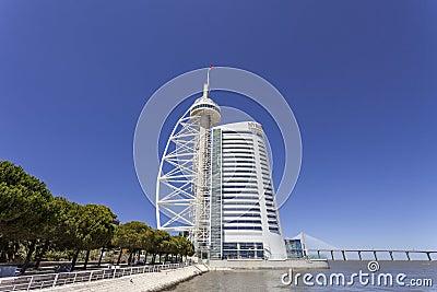 Vasco da Gama Tower / Myriad Hotel - Lisbon Editorial Image