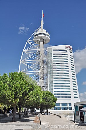 Vasco De Gama tower in Lisbon Editorial Photography