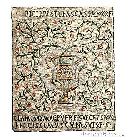 Free Vase - Ancient Mosaics Stock Images - 27266374