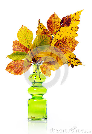 Vase with autumn bouquet