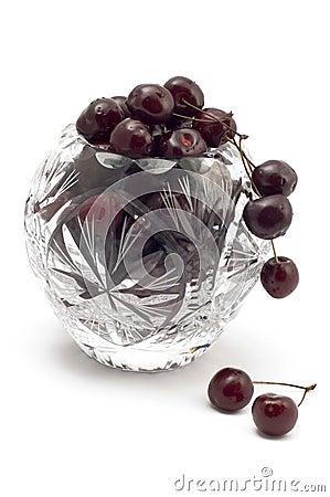 Vase with cherry