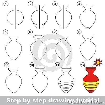 Vase cours de dessin illustration de vecteur image 69553692 - Dessiner un vase ...