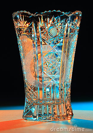 Vase Of Cut Glass