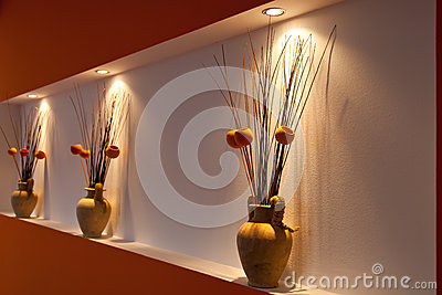 Vase decoration orange