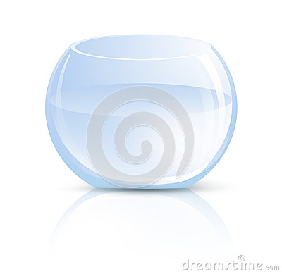 Vase en verre ou aquarium rond photo stock image 29015270 for Grand aquarium rond