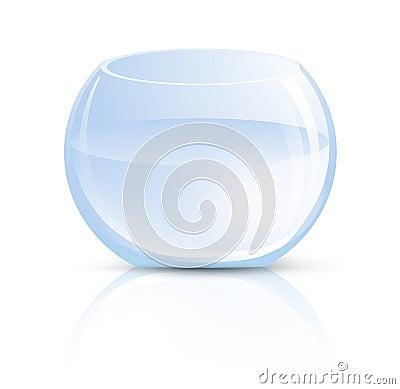 Vase en verre ou aquarium rond photo stock image 29015270 for Vase aquarium rond