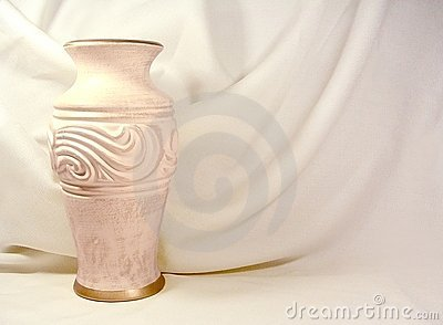 Vase and Fabric