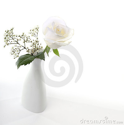 Vase with flower bouquet