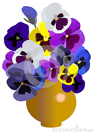 Vase with the flowers2
