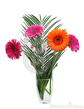 Vase with gerberas