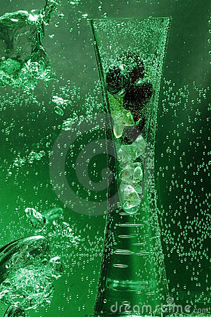 Vase in Green Water