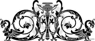 Vase and harpy