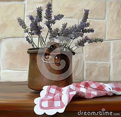 vase of lavender