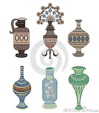 Vase ornament element vector