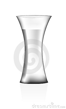 Vase with water