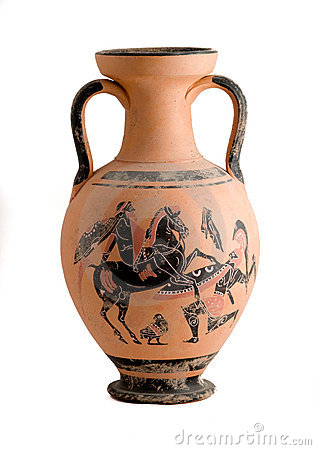 Free Vase With A Greek Historic Scene Royalty Free Stock Images - 6950639
