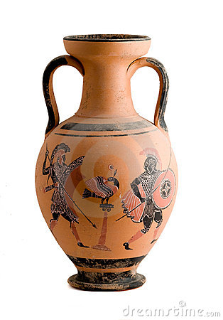 Free Vase With A Greek Historic Scene Royalty Free Stock Photo - 7066745