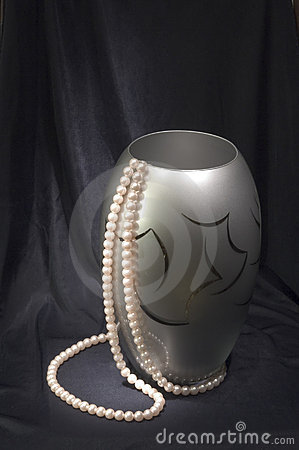 Free Vase With Beads At Black Stock Photo - 285570