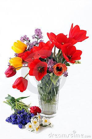 Free Vase With Flowers Royalty Free Stock Photo - 4858775