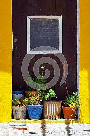Vases on the Doorway