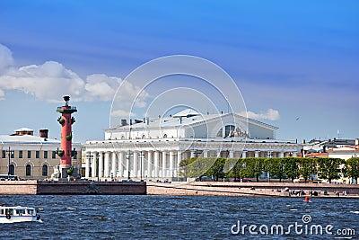Vasilevsky island and Rostral columns.
