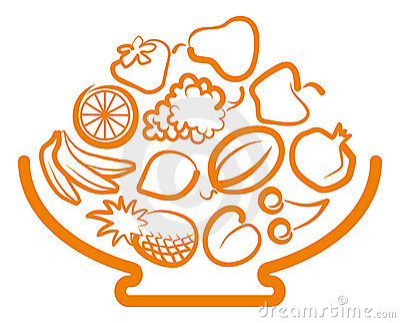 Vaso com fruta