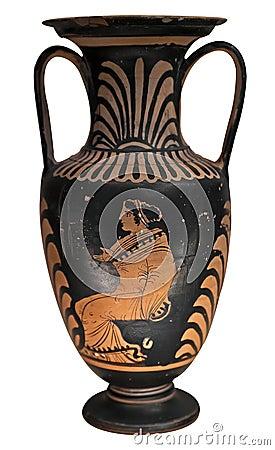 Vaso del greco antico isolato su bianco fotografia stock for Vasi antica grecia