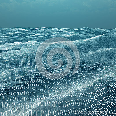 Free Vast Binary Code Sea Royalty Free Stock Image - 28197376