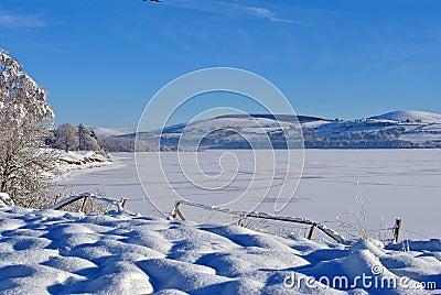 Vast expanse of frozen water