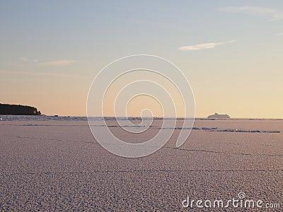 Vast fields of sea ice