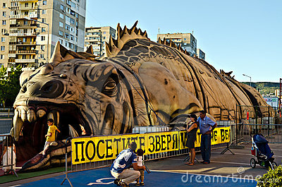 Vast Hollywood inflatable beast Editorial Photography
