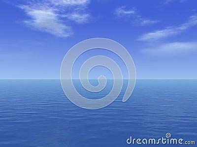 Vast sea deep ocean