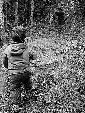 Vater-und Sohn-Jagd