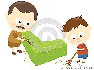 Vater- und Sohn-Verhältnis