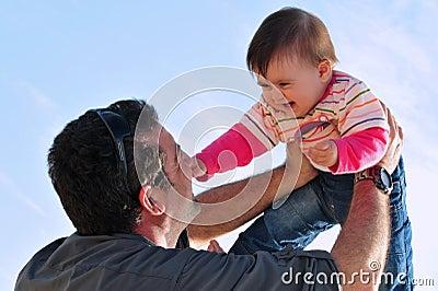 Vater und Tochter Parenting