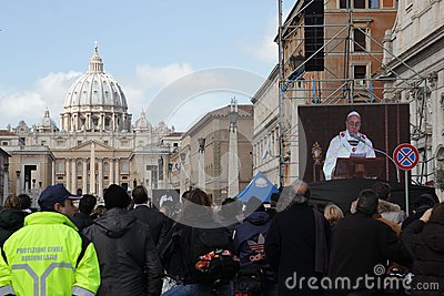 Pope installation Editorial Stock Image