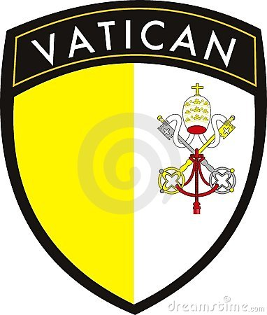 Vatican city vector patch flag